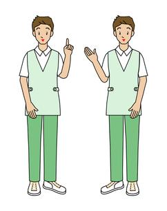 介護士の若い男性の写真素材 [FYI00136103]