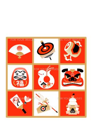 年賀状 へび 巳 縁起物の写真素材 [FYI00136203]