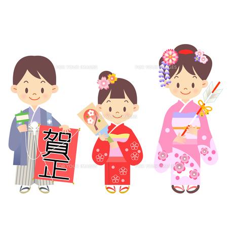 年賀状 お正月 子供の写真素材 [FYI00136205]