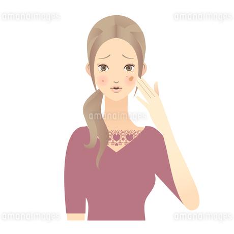 女性 顔 イラストの素材 [FYI00136213]