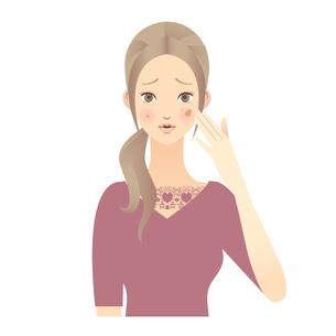 女性 顔 イラストの写真素材 [FYI00136213]