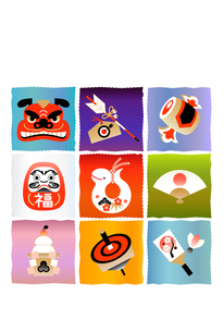 年賀状 へび 巳 縁起物の写真素材 [FYI00136215]