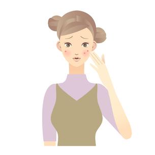 女性 顔 イラストの写真素材 [FYI00136220]