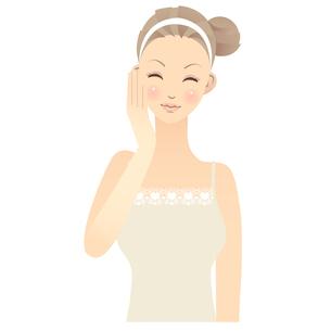 女性 顔 イラストの素材 [FYI00136221]