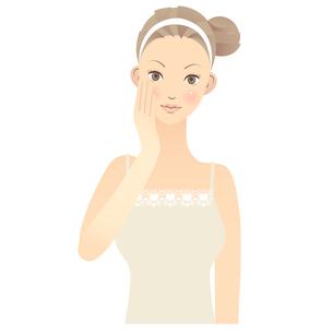女性 顔 イラストの写真素材 [FYI00136222]