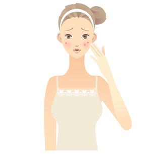 女性 顔 イラストの写真素材 [FYI00136224]