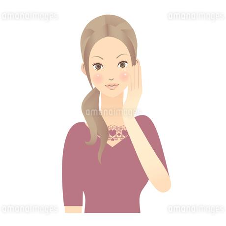 女性 顔 イラストの素材 [FYI00136225]
