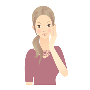 女性 顔 イラストの写真素材 [FYI00136225]