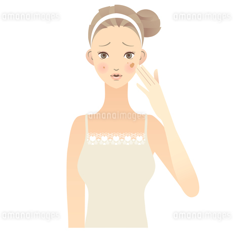 女性 顔 イラストの素材 [FYI00136230]