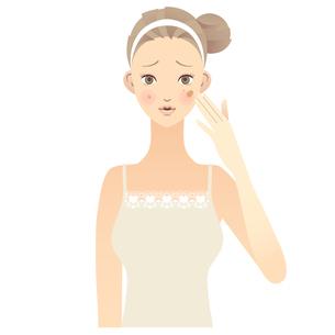 女性 顔 イラストの写真素材 [FYI00136230]