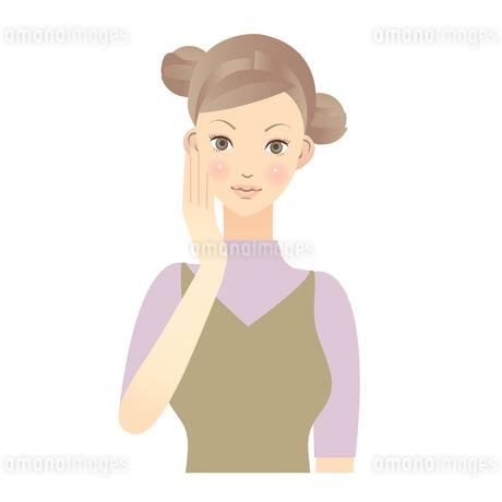 女性 顔 イラストの素材 [FYI00136231]