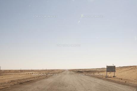 荒野の道の素材 [FYI00136295]