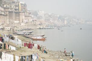インド、バラナシ、ガンジス河の写真素材 [FYI00136313]