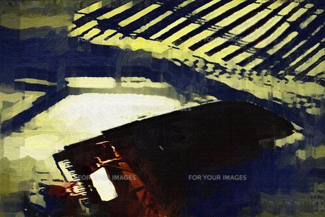 ピアノを弾く人 - 俯瞰するの写真素材 [FYI00136538]