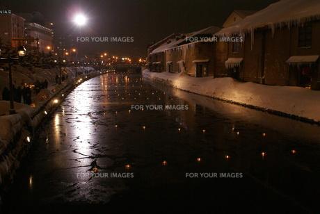 小樽運河の写真素材 [FYI00137110]