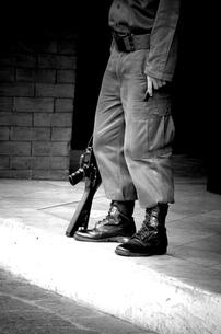 兵士の銃の写真素材 [FYI00137649]