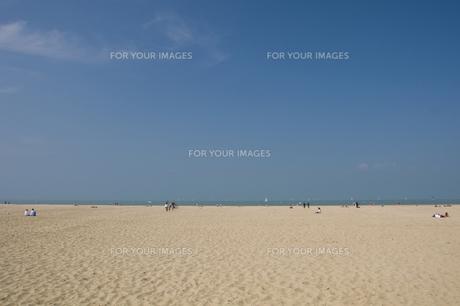フランス高級ビーチリゾート・ドービル海岸の写真素材 [FYI00137664]