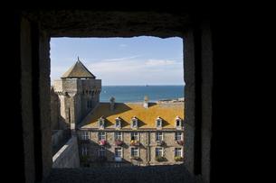 サンマロの城塞の写真素材 [FYI00137678]