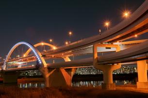夜の五色桜大橋の写真素材 [FYI00138558]