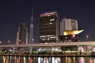 墨田公園からの夜景の写真素材 [FYI00138590]