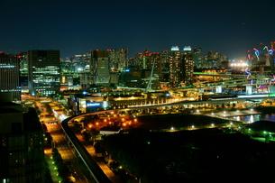 台場の夜景の写真素材 [FYI00138651]