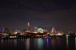 みなとみらいの夜景の写真素材 [FYI00138681]