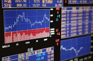 株価チャートの写真素材 [FYI00138978]