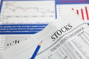 株価チャートの写真素材 [FYI00138984]