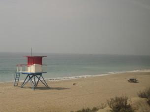 海岸の監視台の写真素材 [FYI00139532]