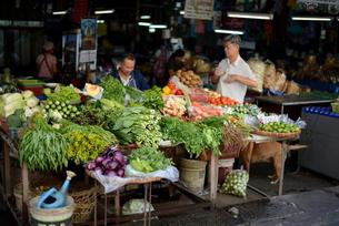 タイ/ランパーンの八百屋の写真素材 [FYI00139681]