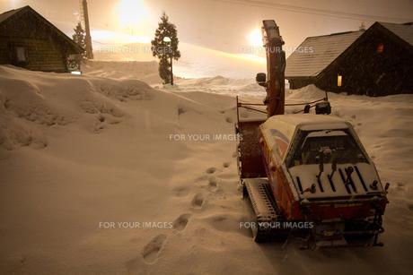 夜のスキー場の写真素材 [FYI00139718]