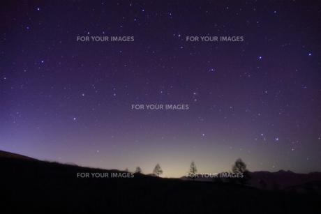 冬の星空の写真素材 [FYI00141637]