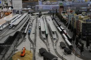 鉄道ジオラマの写真素材 [FYI00142218]