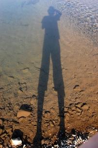 自分の影の写真素材 [FYI00142219]