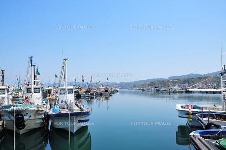 漁港の風景の写真素材 [FYI00142257]