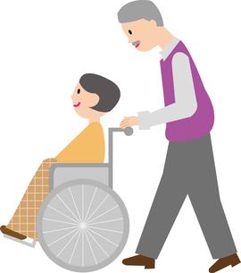 車いすの老夫婦の写真素材 [FYI00142313]