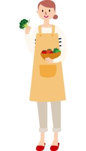 野菜を持つ女性の写真素材 [FYI00142342]