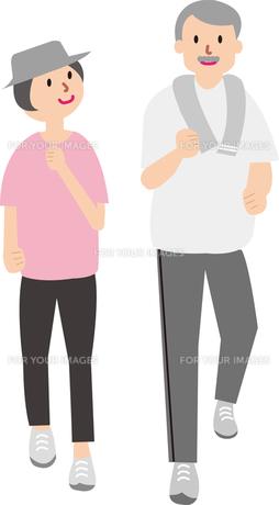 ランニングをする熟年夫婦の写真素材 [FYI00142348]