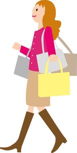 買物をする女性の写真素材 [FYI00142354]