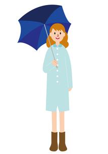 傘をさす女性の写真素材 [FYI00142395]