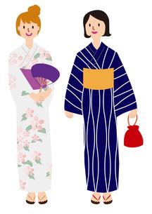 浴衣の女性達の写真素材 [FYI00142414]