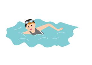 水泳をする女性の写真素材 [FYI00142425]