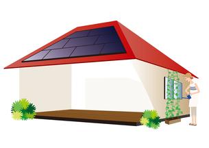 太陽光発電の家の写真素材 [FYI00142440]