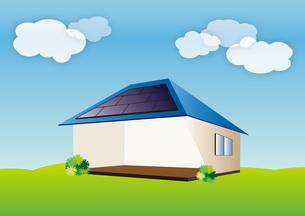 太陽光発電の家の写真素材 [FYI00142446]