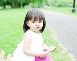 笑顔の可愛いハーフの少女の写真素材 [FYI00143165]