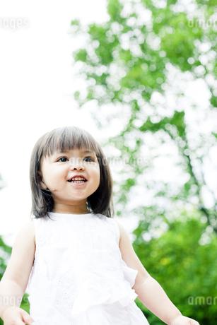 笑顔の可愛いハーフの少女の写真素材 [FYI00143200]