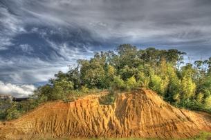 削られた丘の写真素材 [FYI00143567]