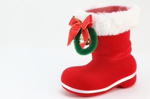 サンタのブーツの写真素材 [FYI00143711]