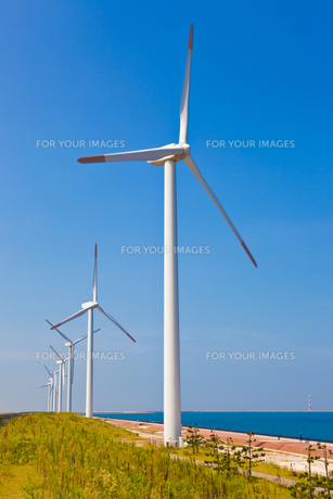 風力発電所の素材 [FYI00144148]