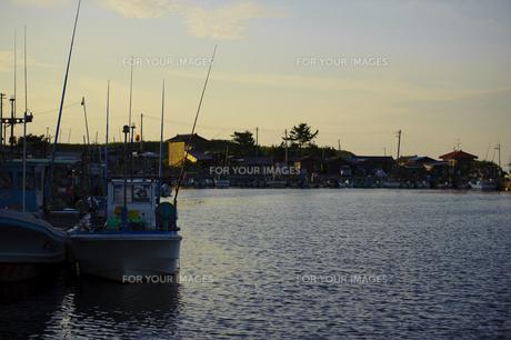 漁師の港の写真素材 [FYI00144276]